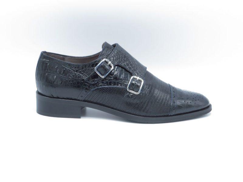 Pertini 15216 zwart-blauw croco