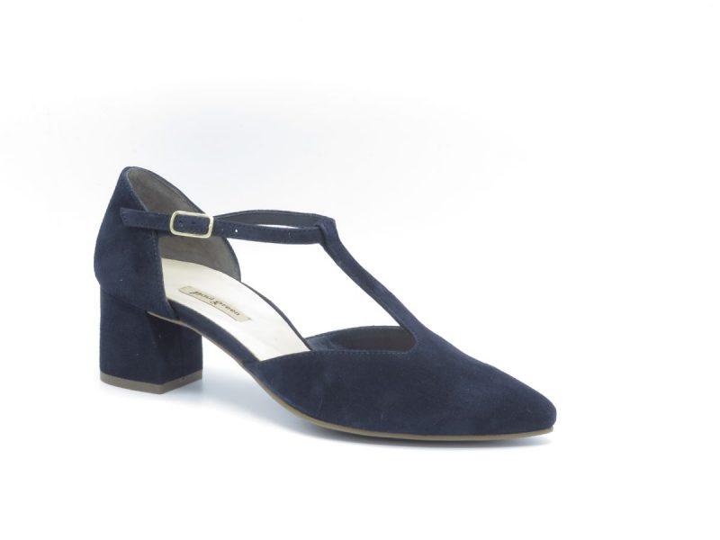 Paul Green 3744-016 blauw suède hakhoogte 5cm