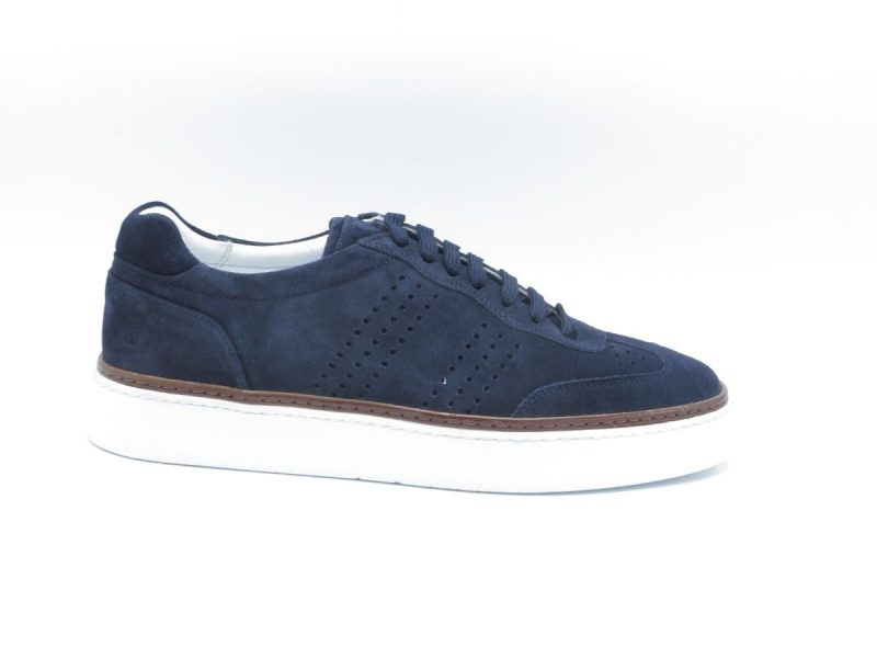 H32 sneaker 15100a006 blauw suède