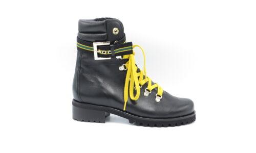 Hassia 6-302080 zwart leer met geel
